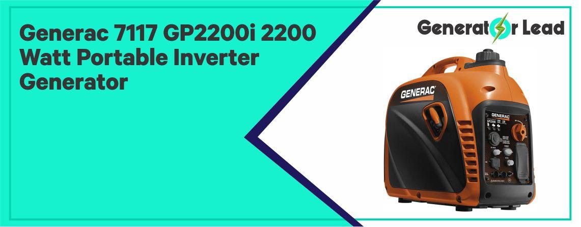 Generac 7117 GP2200i - Best Small Inverter Generator