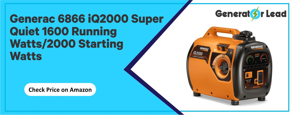 Generac 6866 iQ2000 - Super Quiet Inverter Generator