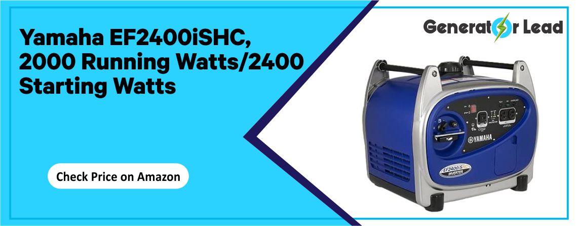 YAMAHA EF2400ISHC - 2000 Running Watts Generator