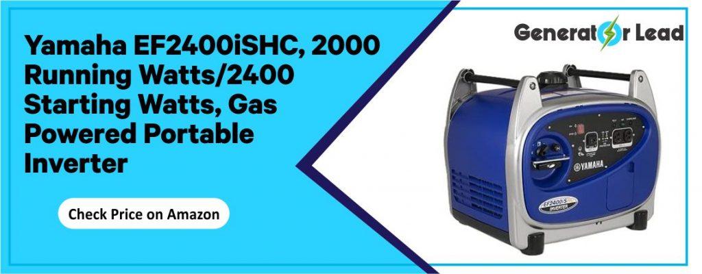 Yamaha EF2400iSHC best gas powered inverter generator for home backup