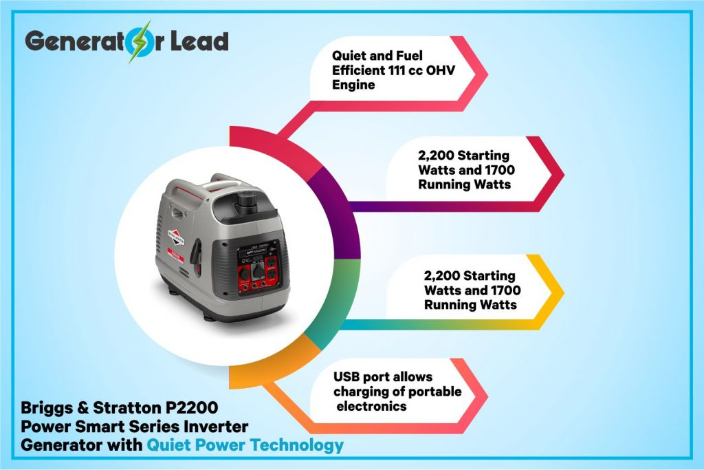 Briggs & Stratton 30651 - Best Super Quiet Inverter Generator infographics