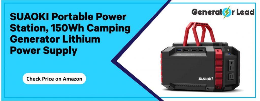 SUAOKI Portable Power Station - Dual 110V AC Outlet