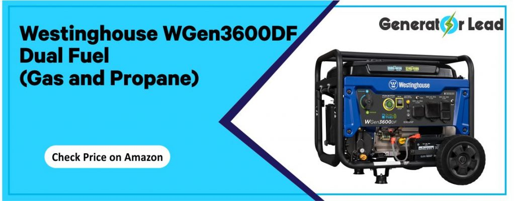 Westinghouse WGen3600DF - Electric Start Inverter Generator