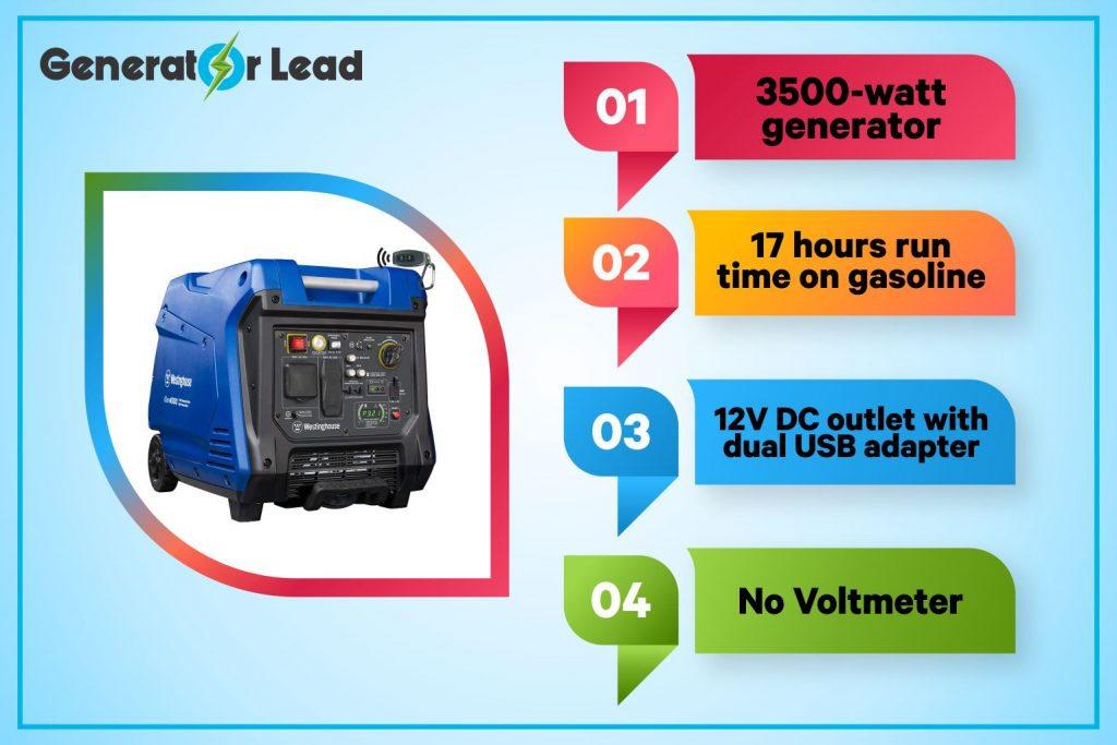 Champion 4000-Watt RV Ready DH Series Open Frame Inverter with Quiet Technology (Pack of 1) infographic