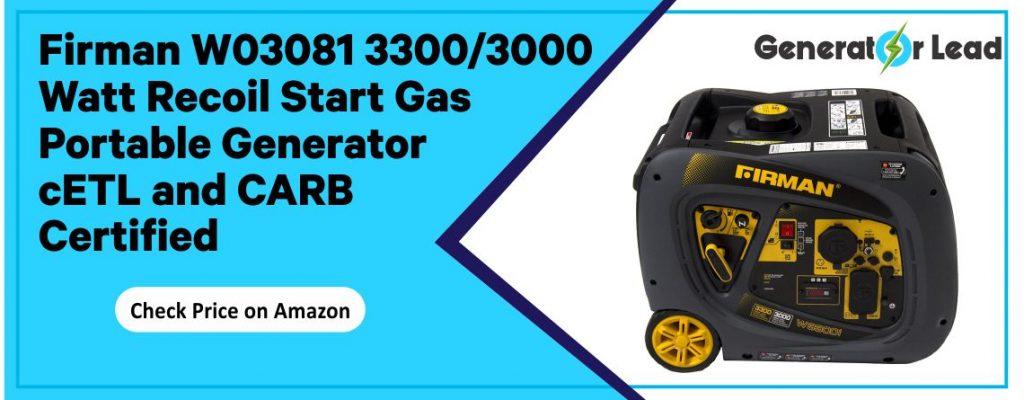 Firman W03081 - Best Portable Inverter Generator