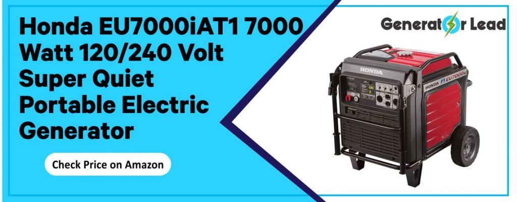 Honda EU7000iAT1 7000 Watt 120/240 Volt Super Quiet Portable Electric Generator