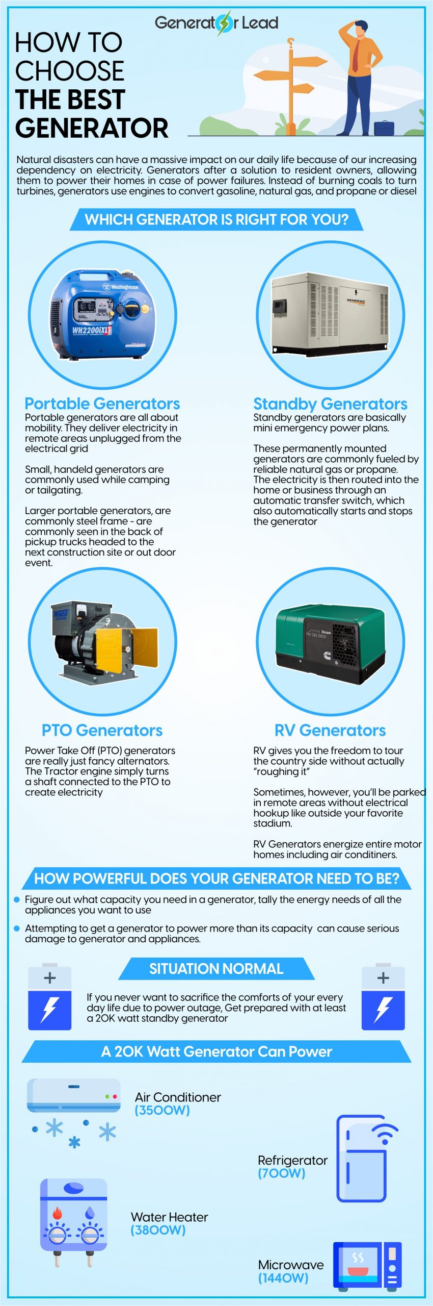 How to choose Best Generator for you infograph